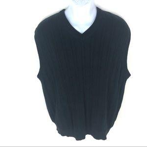 Nautica Men's Black Sweater Vest XL